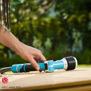 Vòi tưới vườn, xịt rửa tay gạt đa năng- cao cấp Cellfast Ergo do Ba Lan sản xuất có tới 4 chế độ tưới dễ dàng điều chỉnh. Vừa có thể dùng vòi tưới vườn rau, tưới cây vừa có thể xịt rửa xe.