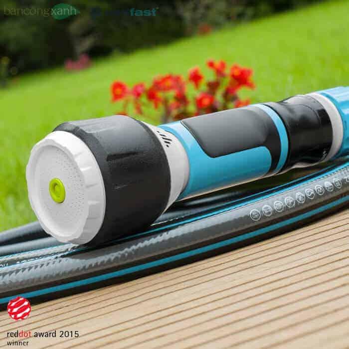 Vòi tưới vườn, xịt rửa xoay đa năng-chất lượng cao Cellfast Ergo với 4 chế độ tưới dễ dàng điều chỉnh thích hợp dùng tưới vườn và xịt rửa xe tại nhà.