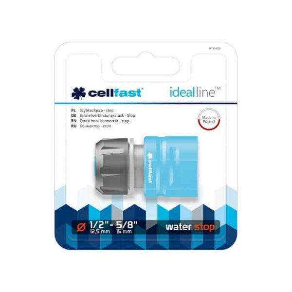 Cút nối nhanh stop tự ngắt nguồn nước Cellfast Ideal Line 21mm