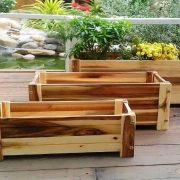 Chậu gỗ chữ nhật trồng cây, trồng rau, trồng hoa