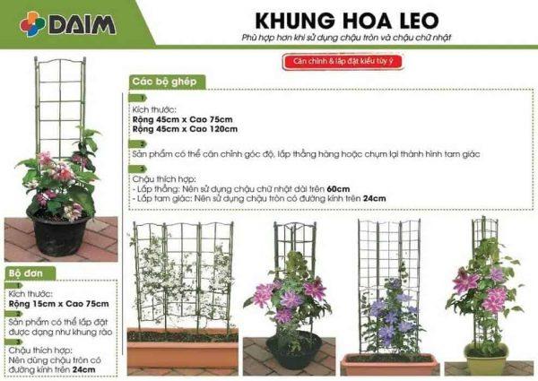 Khung trồng hoa leo...