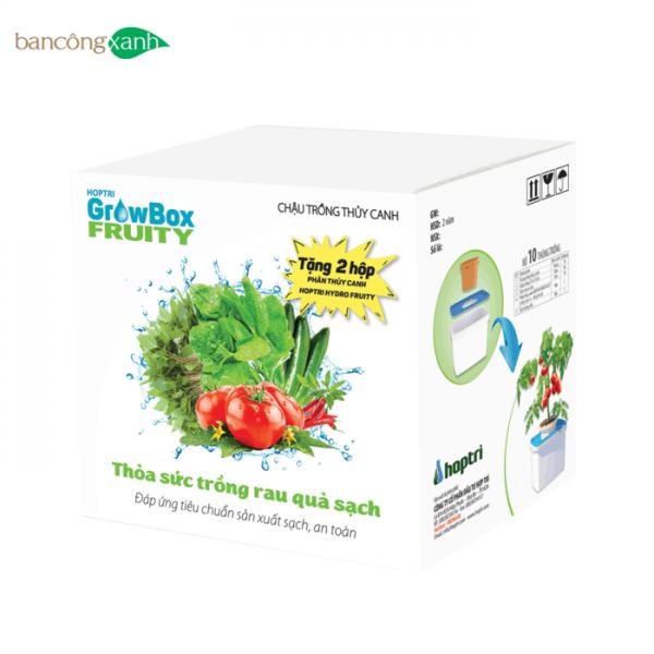 Trọn bộ hệ thống trồng cây thuỷ canh tĩnh Growbox Fruity-trồng cây rau ăn trái