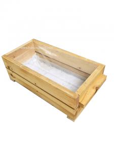 Chậu gỗ chữ nhật trồng cây cao cấp Portable Box-Famifarm