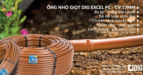 ống nhỏ giọt 17mm tưới hàng rào tường dậu, lươn đường giải phân cách