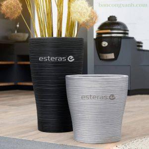 Chậu Composite Esteras Natural Element Wood rings Manakau