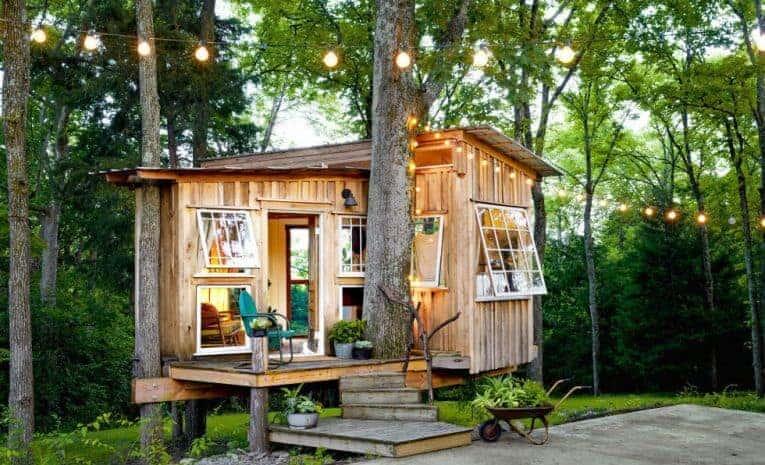 Sự kết hợp độc đáo nhà ở phong cách vintage với cây xanh