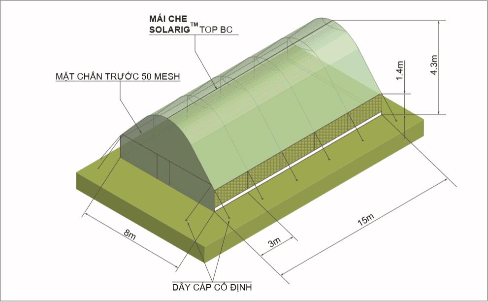 Mô hình thông số kĩ thuật màng phủ solarig tunnel stk pioneer