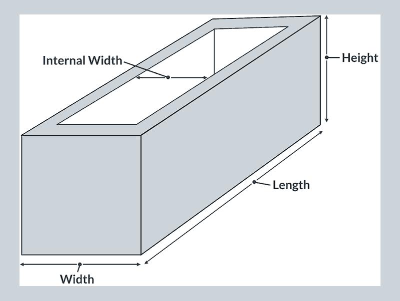 Hướng dẫn đo kcih1 thước chậu trồng cây hình chữ nhật