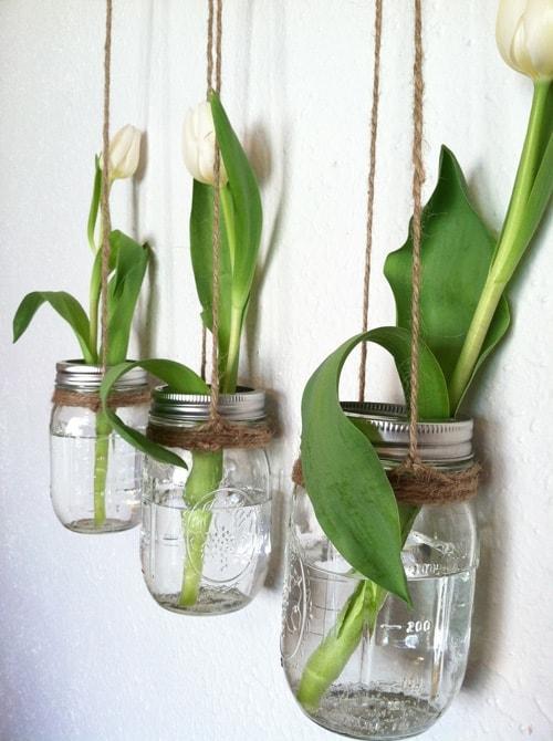 Những mẫu chậu hoa treo tường đẹp và dễ làm 12