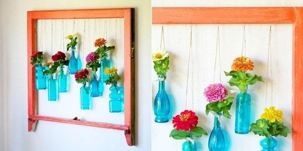 Những mẫu chậu hoa treo tường đẹp và dễ làm 15