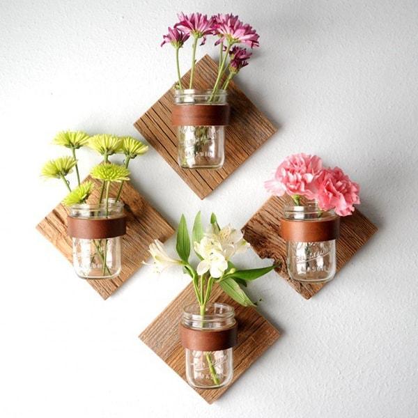 Những mẫu chậu hoa treo tường đẹp và dễ làm 17 a