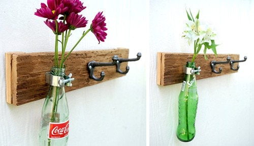 Những mẫu chậu hoa treo tường đẹp và dễ làm 17