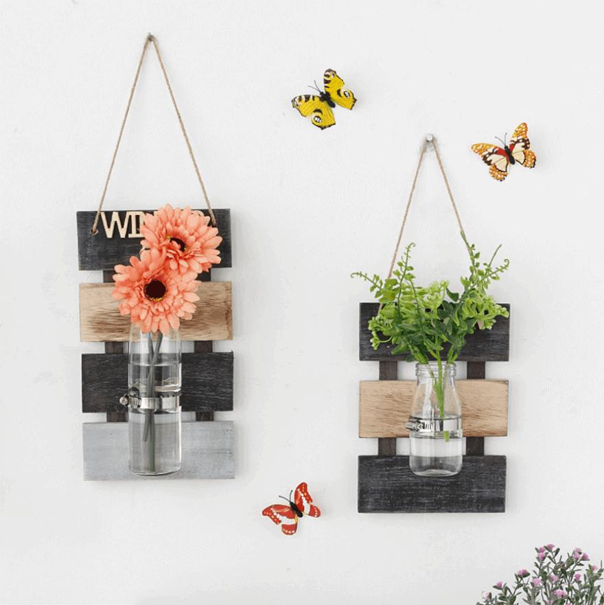 Những mẫu chậu hoa treo tường đẹp và dễ làm 18