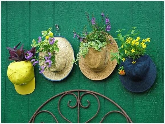 Những mẫu chậu hoa treo tường đẹp và dễ làm 2