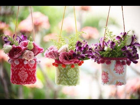 Những mẫu chậu hoa treo tường đẹp và dễ làm 29