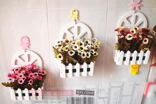 Những mẫu chậu hoa treo tường đẹp và dễ làm 32
