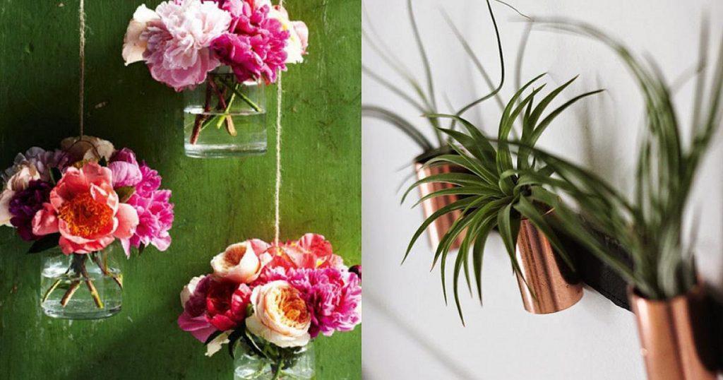Những mẫu chậu hoa treo tường đẹp và dễ làm 5