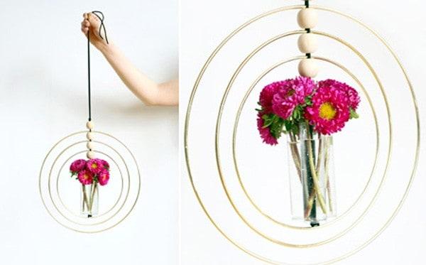 Những mẫu chậu hoa treo tường đẹp và dễ làm 6