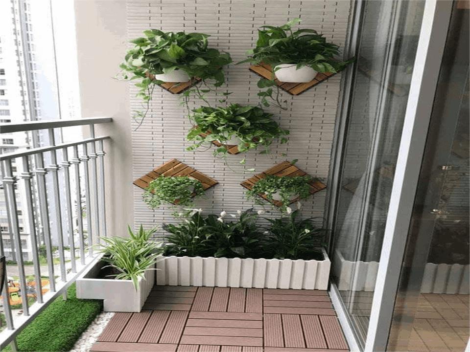 mẫu thiết kế ban công cây cảnh đẹp 25