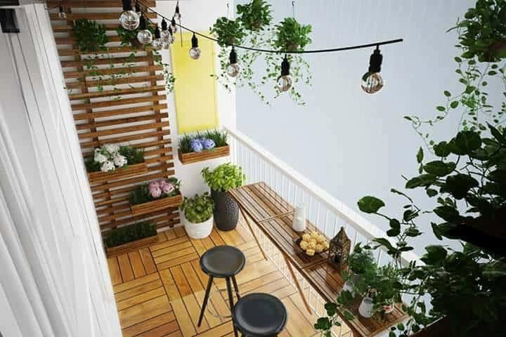 mẫu thiết kế ban công cây cảnh đẹp 32