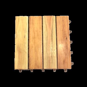 vỉ gỗ lót sàn phủ dầu 4 nan