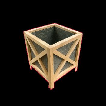 Chậu gỗ từ hộp sữa tái chế Famifarm rebox