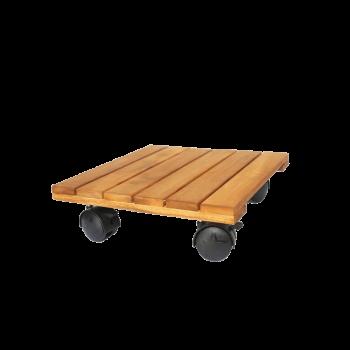 đế gỗ đặt chậu hình vuông màu gỗ tự nhiên