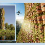 tòa tháp được bao phủ bởi 11520 chậu cây